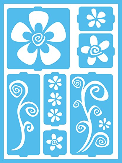 """Flowers and Bugs Momenta ST-252-25232 Adhesive Stencil 6/"""" by 8/"""""""