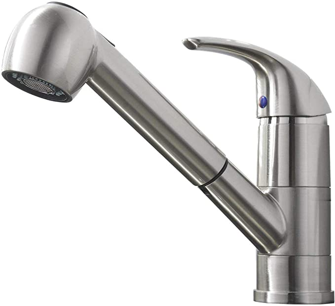 Best Pull out Kitchen Faucet: Comllen Commercial Pull Out Kitchen Faucet