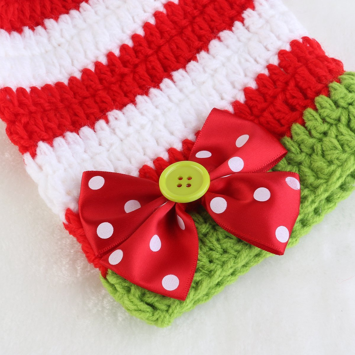 Rhumen Baby Photography Prop Christmas Baby Newborn Handmade Clothes by Rhumen (Image #2)