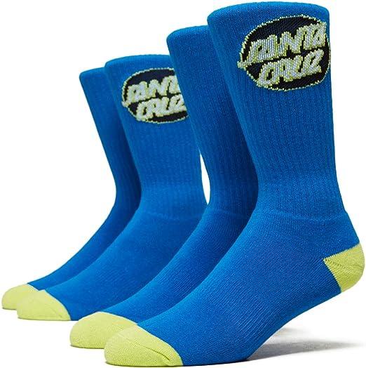Santa Cruz CRUZ CREW Skateboard Socks 2 PAIRS GREY