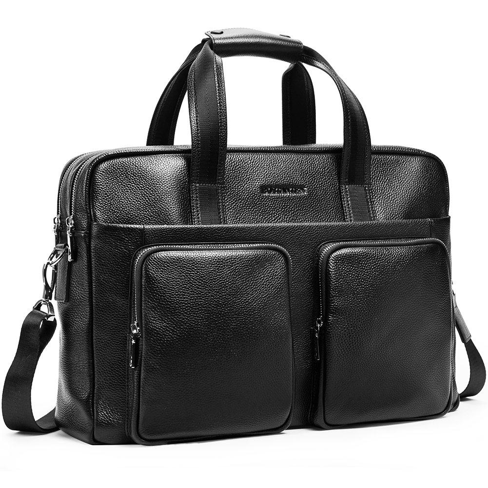 BOSTANTEN Leather Briefcase Messenger Business Bags 17'' Laptop Handbag for Men