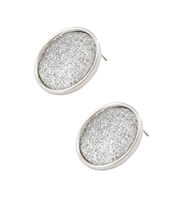 0886a6fbd Amazon.com: Isaloe Rose Gold Frosted Button Stud Earrings for Women Girls  Pierced Ear Jewelry (Silver): Toys & Games