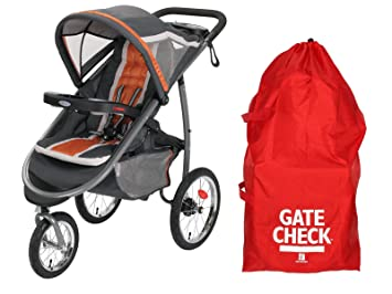 Amazon.com   Graco FastAction Fold Jogger Click Connect Stroller with  Airport Gate Check Bag 79c57bd7320c4