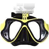 Lyhoon-Maschera per immersioni Snorkeling e subacquea vetro temperato Xiaoyi compatibile con GoPro Hero 1, 2, 3, 3 e 4