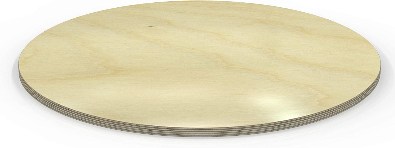 AUPROTEC Tischplatte 18mm rund /Ø 800 mm wei/ß Multiplexplatte melaminbeschichtet von 20cm-148cm ausw/ählbar runde Sperrholz-Platten Birke Massiv Multiplex Holz Industriequalit/ät