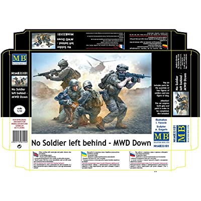 Masterbox NO Soldier Left Behind - MWD Down 1/35 Master Box 35181: Toys & Games