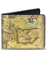 The Lord of the rings PU Leather Map Bifold Wallet One Size
