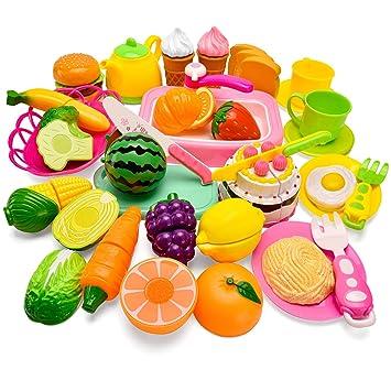 Amazon.com: Set de alimentos Balnore para niños, 57 piezas ...