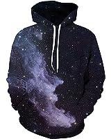 Sankill Unisex Harajuku Realistic 3d Digital Pullover Sweatshirt Hoodie Hooded Sweatshirt Pockets Zip Up S-3XL