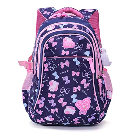 974389abb Mochila escolar para niños, Mochila Escolar para Niñas Estudiantes Bolso  Colegio Impermeable - Azul oscuro: Amazon.com.mx: VJ Bag