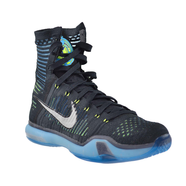 the latest 46b8f 075ce Amazon.com | Nike Kobe X Elite Men's Shoes Black/Metallic Silver-Blue Light  Green Volt 718763-004 (10 D(M) US) | Fashion Sneakers