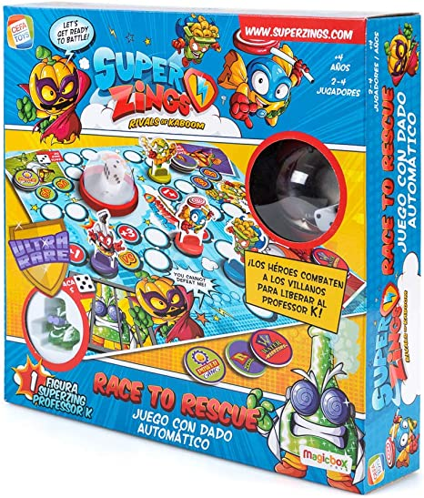 SuperZings- Professor K Juego de Mesa – Race to Rescue-Castellano ...