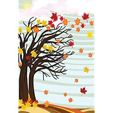 Toland Home Garden Autumn Winds 12.5 x 18 Inch Decorative Fall Blowing Leaves Garden Flag