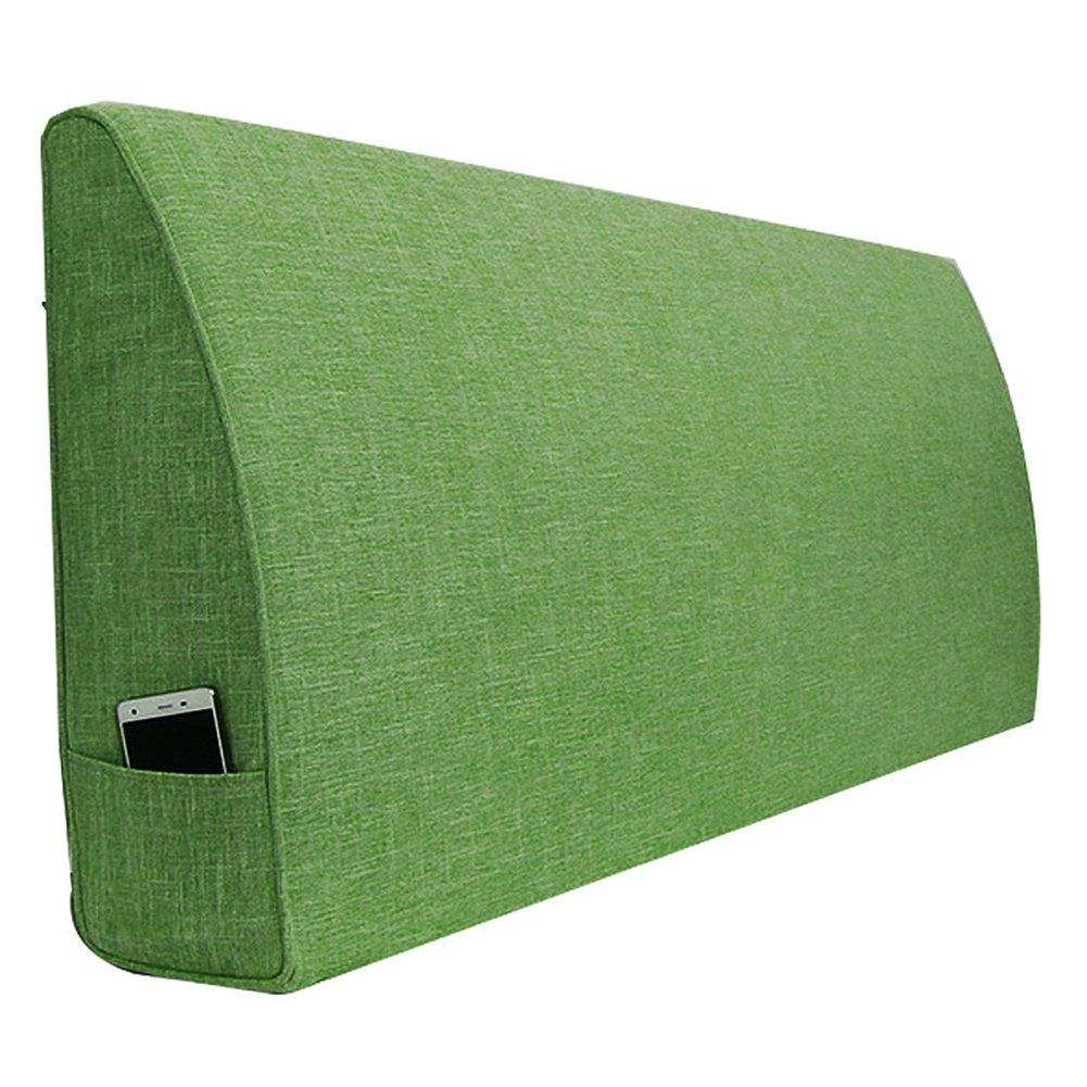 ZEMIN Nachttisch Kissen Kopfbrettkissen Mit/Ohne Kopfteil Unterstützung Gute Qualität Leinen, 8 Farben, 8 Größen (Farbe : A-with, größe : 180x15x50CM)