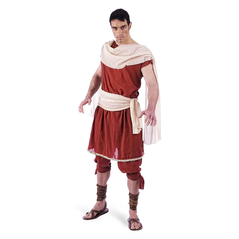 Heros - Costume Da Dio Greco - Set In Due Pezzi - Tunica E Pantaloni - Da Uomo Per Carnevale - M