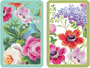 Caspari Edwardian Garden Playing Cards, 2 Decks Included