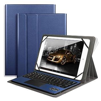 Amazon.com: Teclado Bluetooth con Touchpad QWERTY US Layout ...