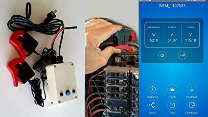 WiFi KWh Amps Volts Electric Meter  Up to three phase Remote switching 100  Amps  Up to 1000 Amps optional  Split Core