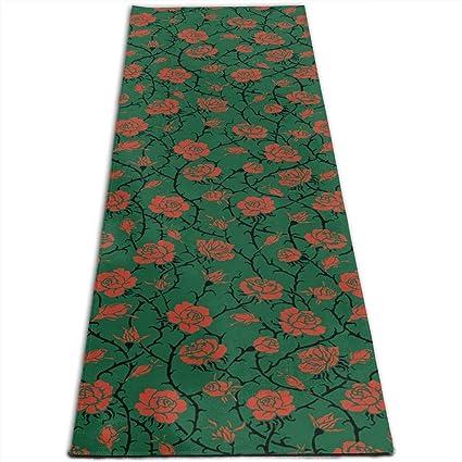 Amazon.com : MoralesLmat Rose Swirls Ivy Plants Dark ...
