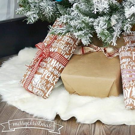 AMADE Faldas para árbol de Navidad, Alfombra de árbol de Navidad ...