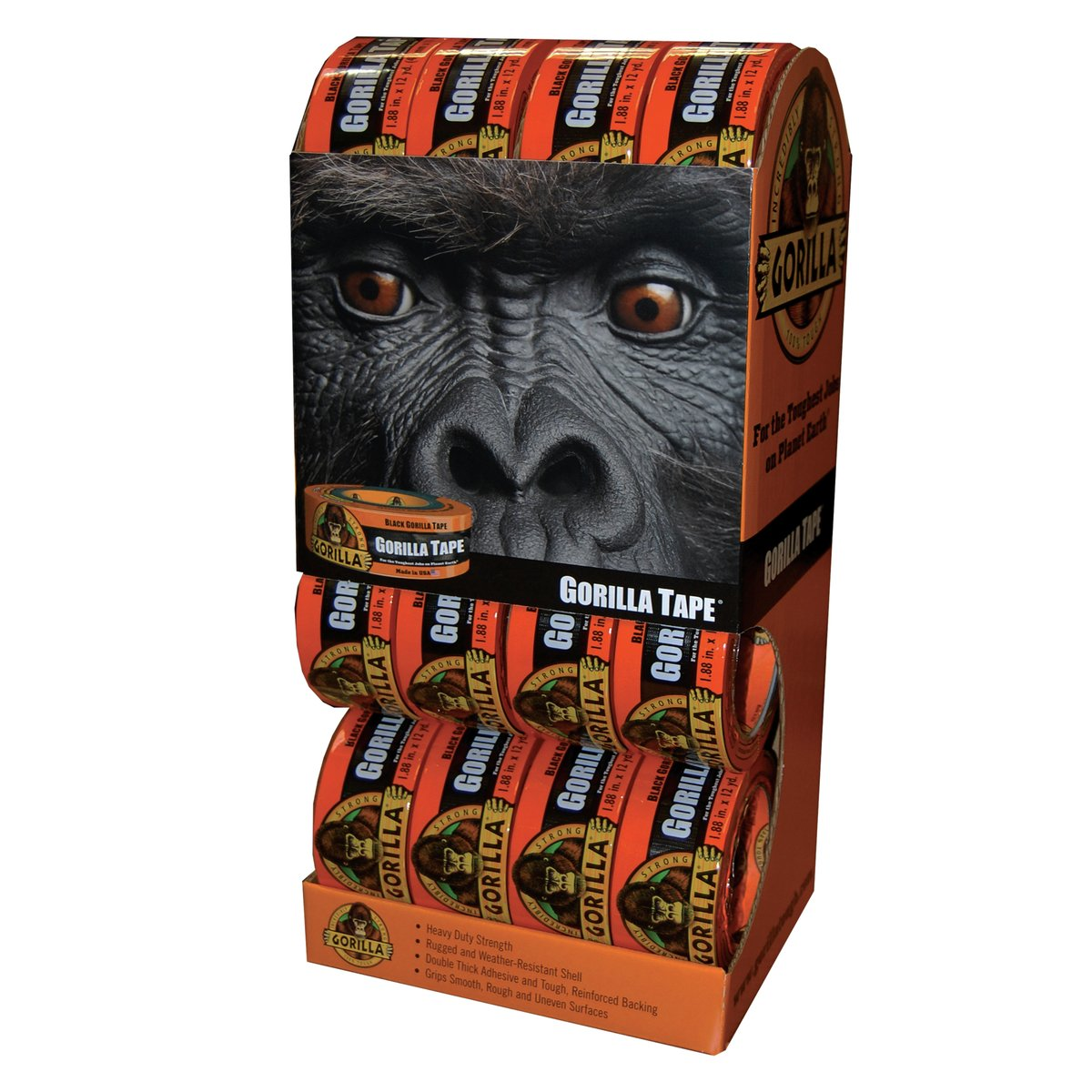 Gorilla Tape, Black Duct Tape, 1.88'' x 12 yd, Black, (Bulk Pack of 16) by Gorilla (Image #6)