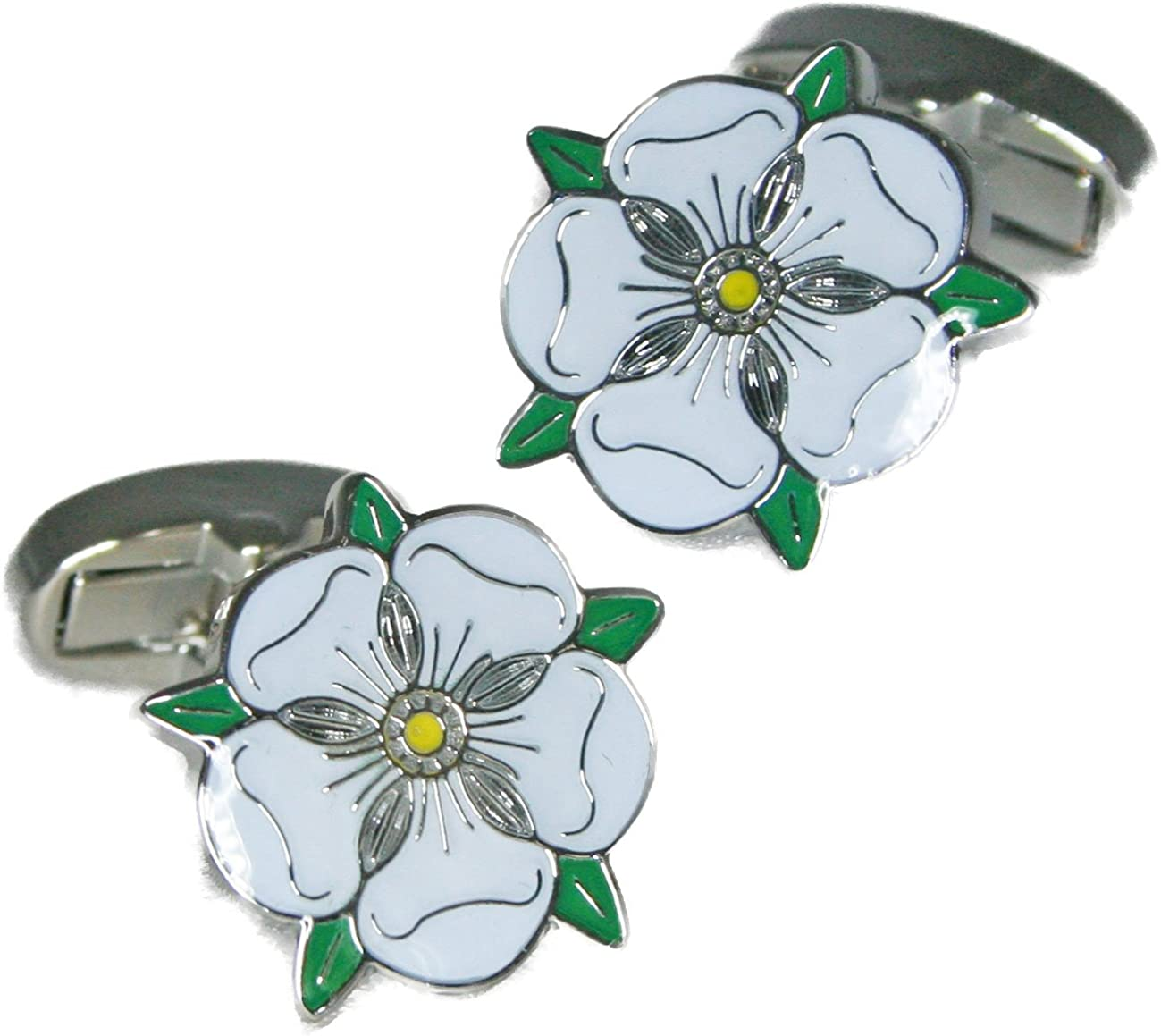 Cuffs /& Co Yorkshire White Rose Cufflinks