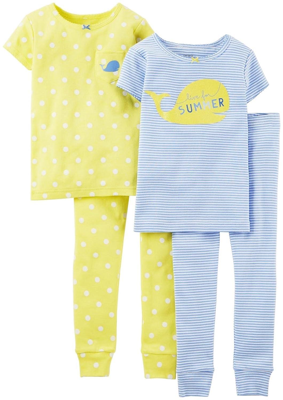 Carters Girls 4-Piece Summer Sleepwear Set