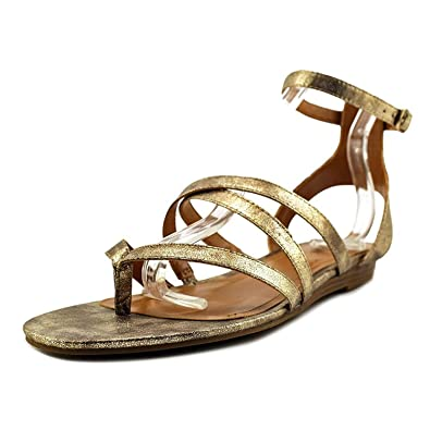 Womens BAHARA Split Toe Casual Gladiator Sandals Gold Size 7.0
