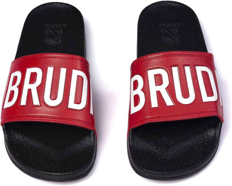 black//red//white, numeric/_37 Chabos Unisex Badesandalen Brudiletten 6.0