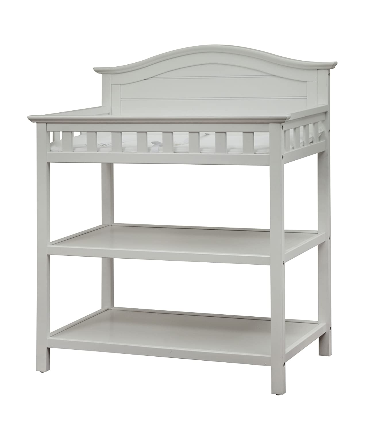 Pebble Gray Safety Strap /& Two Storage Shelves for Infants /& Toddlers Changing Table with Water Resistant Changing Pad Thomasville Kids Southern Dunes Changing Table
