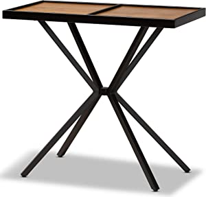 Baxton Studio Console Tables, Walnut/Black