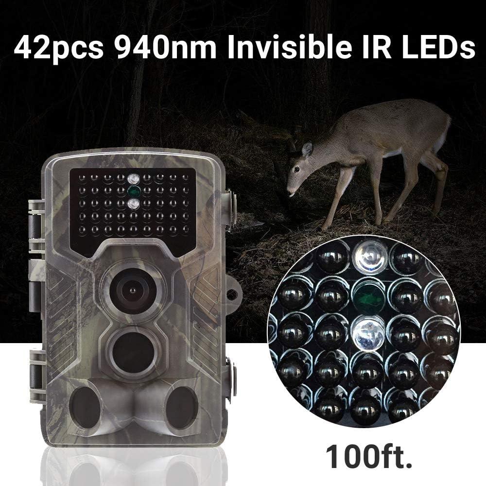 Macchine Fotografiche da Caccia 800G Visione Notturna Invisibile SUNTEKCAM 3G//2G Fotocamera Caccia Fototrappola MMS SMTP 16MP 1080P Wildlife Camera Impermeabile IP66 Trail Camera