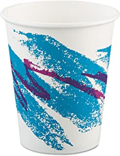 product image for Solo 370JZJ Jazz Design Single Sided Poly Coated Paper Hot Cup, 10 oz Capacity, Case of 1000