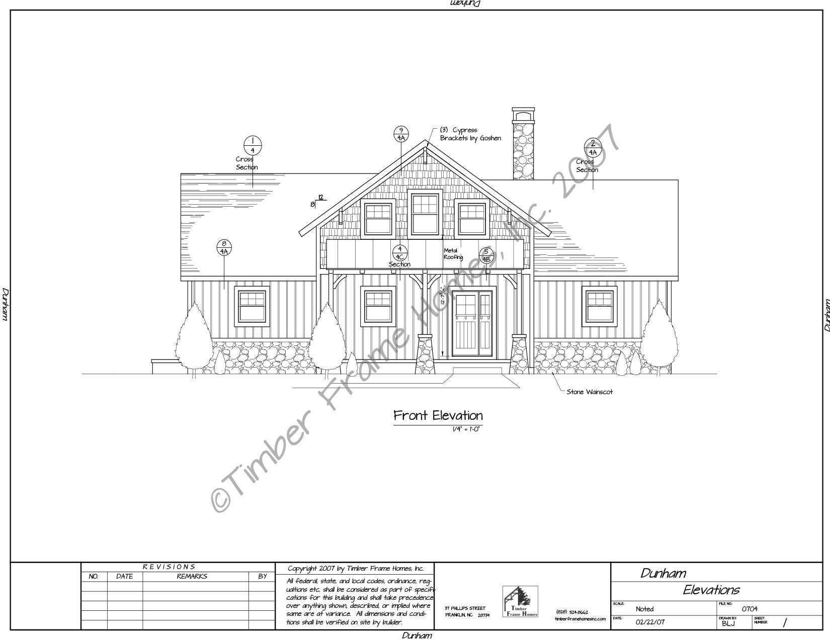 Home Plans - The Dunham Timber Frame (DESIGN PROOF) by TimberStead