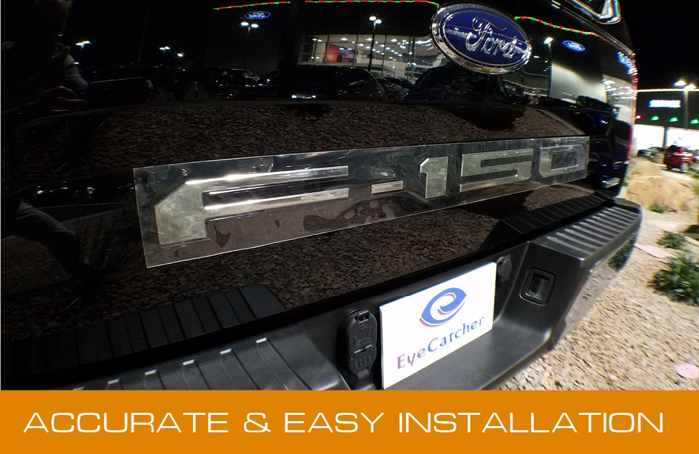 EyeCatcher Tailgate Insert Letters for 2018-2019 Ford F150 Chrome