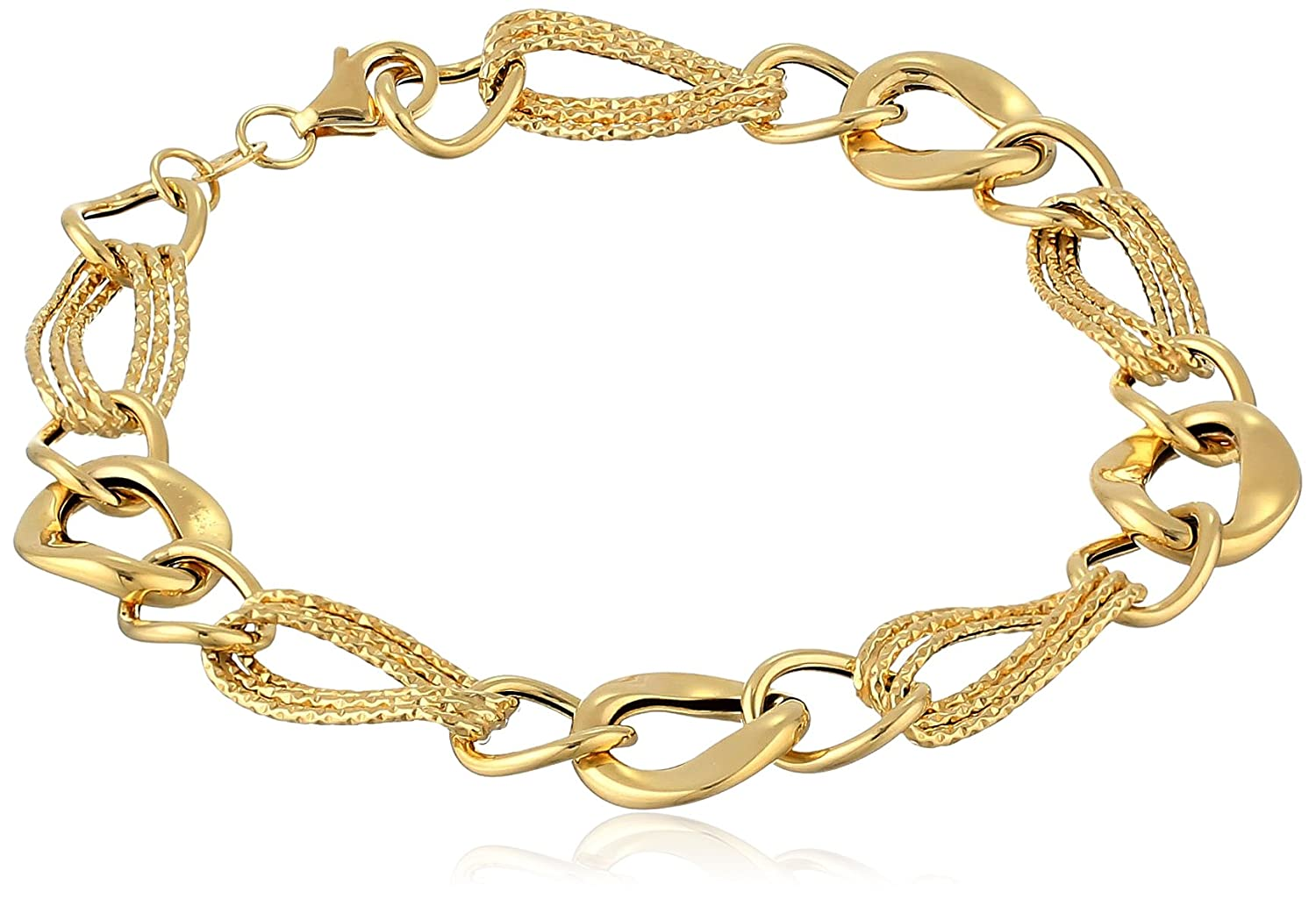 14k Yellow Gold Link Bracelet, 7.5""