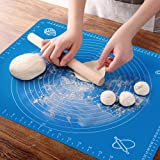 OKeanu Silicone Baking Mat with Measurements, Pastry Rolling Mat, Cooking Mat Professional Non Stick Liner for Making…