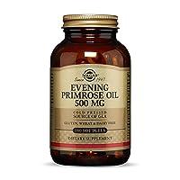 Solgar Evening Primrose Oil 500 mg, 180 Softgels - Promotes Healthy Skin & Cardiovascular...