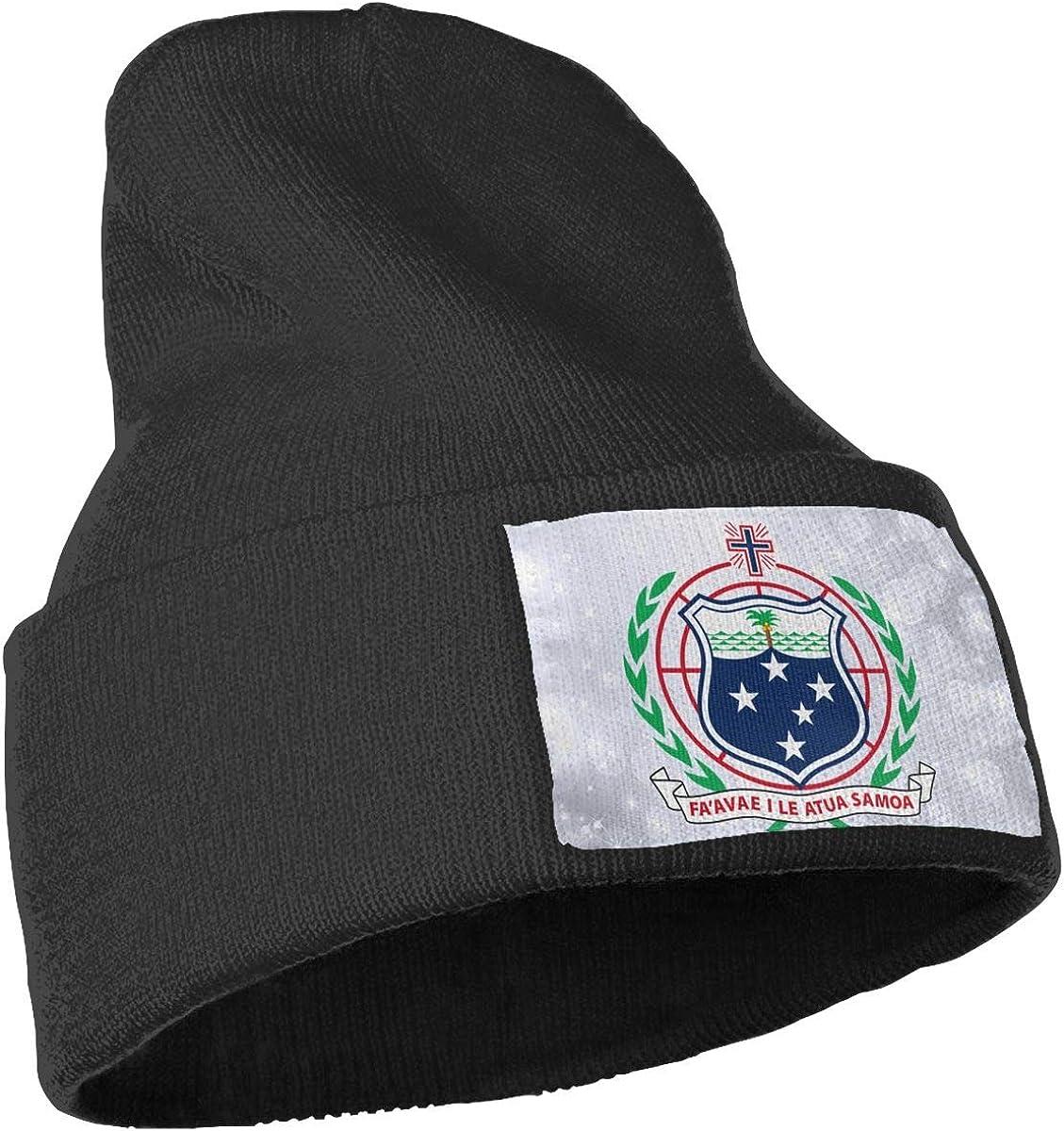 FYFYOK Mens Slouchy Beanie Hat Toboggan Hats Military Back The Blue American Flag Woolen Cap
