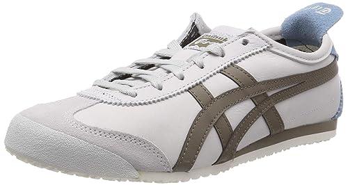 Asics Mexico 66 White-Red-Blue, Zapatos para Hombre: Amazon.es: Zapatos y complementos