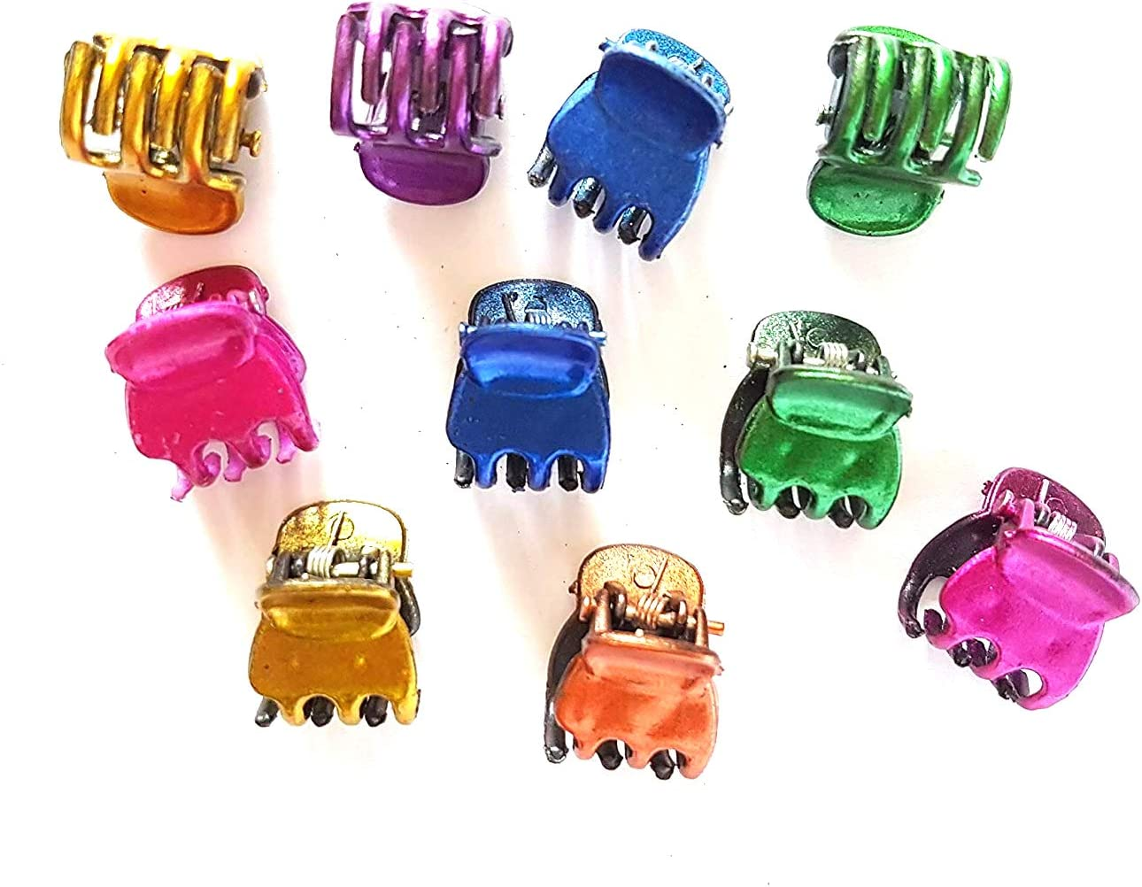 20 pcs Mix sizes Mini tiny small hair claw clips mix assorted colors
