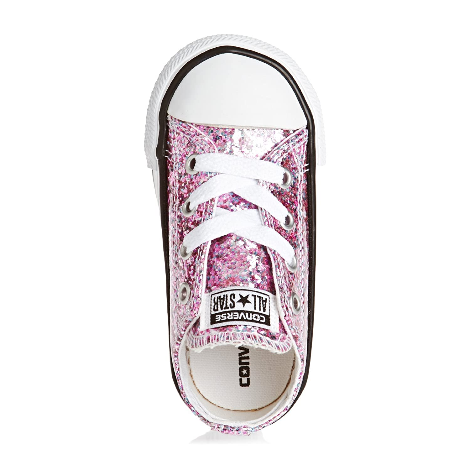 Amazon.com | Converse Chuck Taylor All Star Glitter Ox Frozen Lilac Synthetic 2 M US Toddler | Shoes