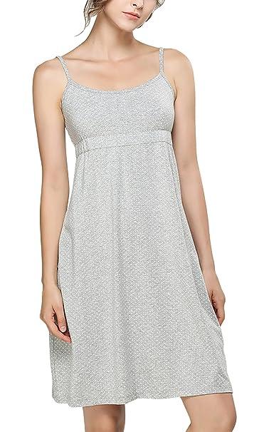 Dolamen Camisón para Mujer, 2018 Mujer Camisones Pijamas, Algodón Lindo Lindo Suave Transpirable Nightdress