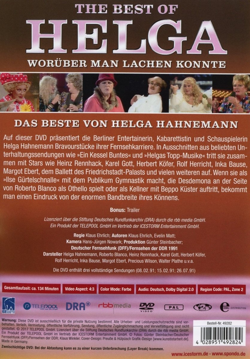 Amazon.com: The Best of Helga Hahnemann - Worüber man lachen konnte ...