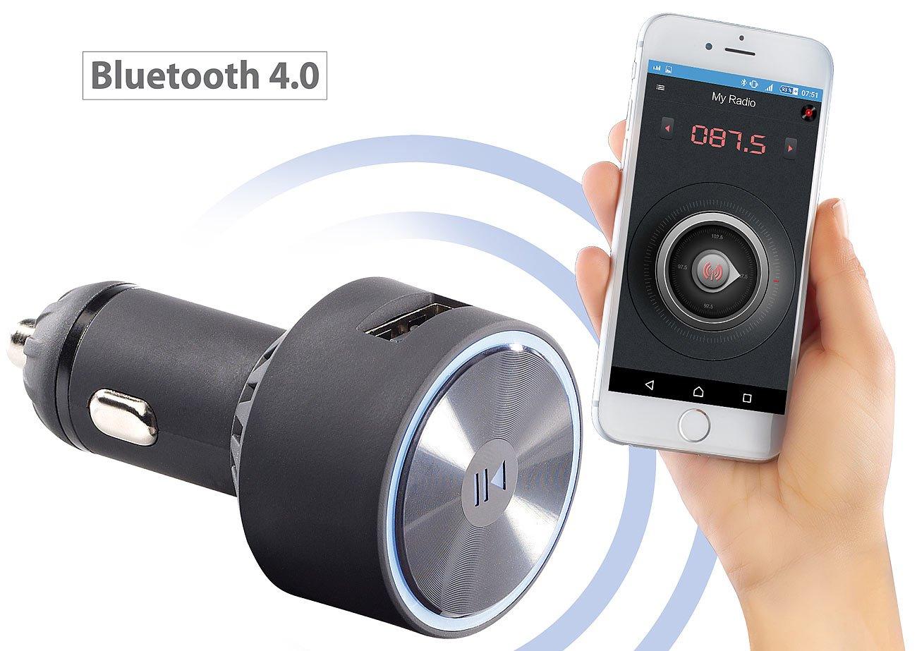 auvisio Auto Bluetooth: Kfz-FM-Transmitter FMX-520.BT mit Bluetooth ...