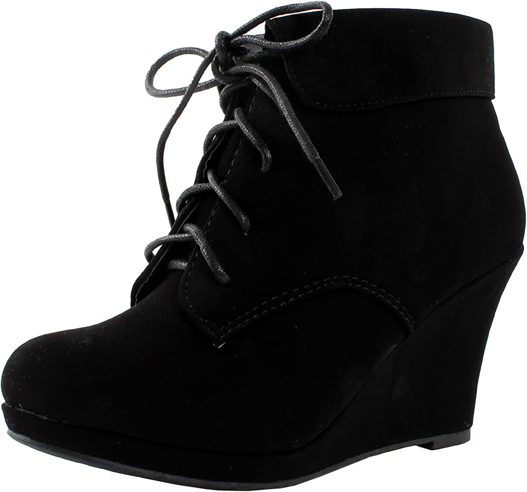 Max 35 Womens Wedge Ankle Booties