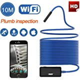 Wireless Endoscope THZY HD 10m WiFi Borescope Inspection Camera 2.0 Megapixels Snake Camera for Android IOS Smartphone, iPhone, Tablet iPad Blue