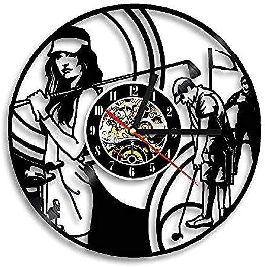 Golf Hobby Disc Theme Reloj de Vinilo Reloj de Pared Exclusivo ...