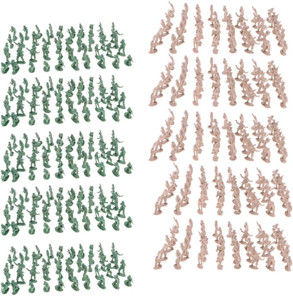 Hellery 1000 Unids 2 Cm Juguete De Plástico Soldado Figurs Ejército Hombres Accs Ejército Blockhouse Modelo