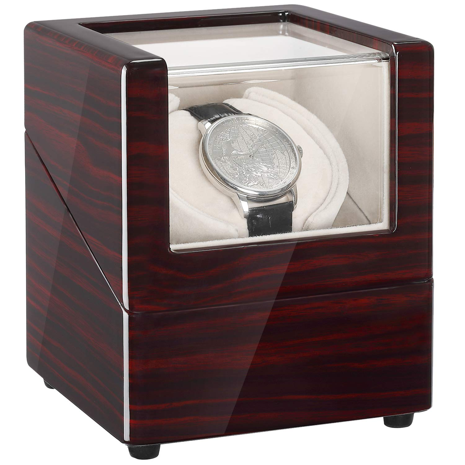 CHIYODA Single Automatic Watch Winder with Quite Motor-Unique12 Rotation Modes by CHIYODA
